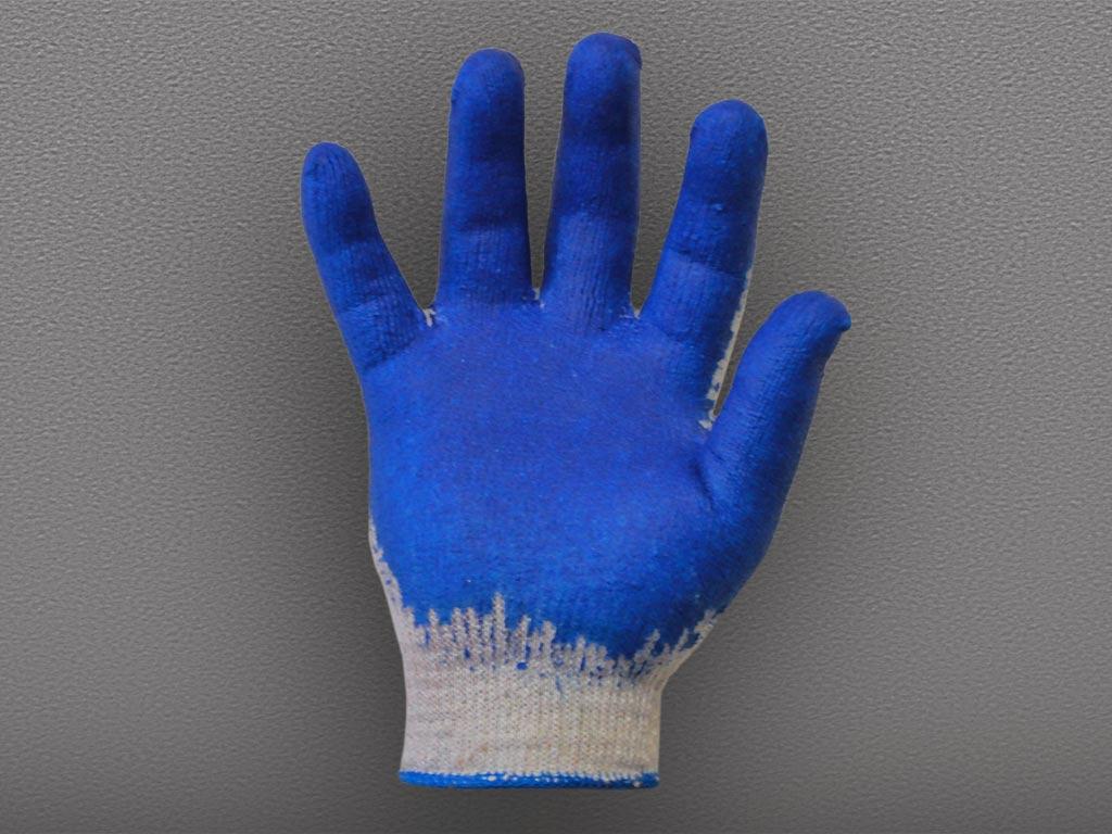 Перчатки Х/Б с одинарным латексным покрытием Первый Сорт