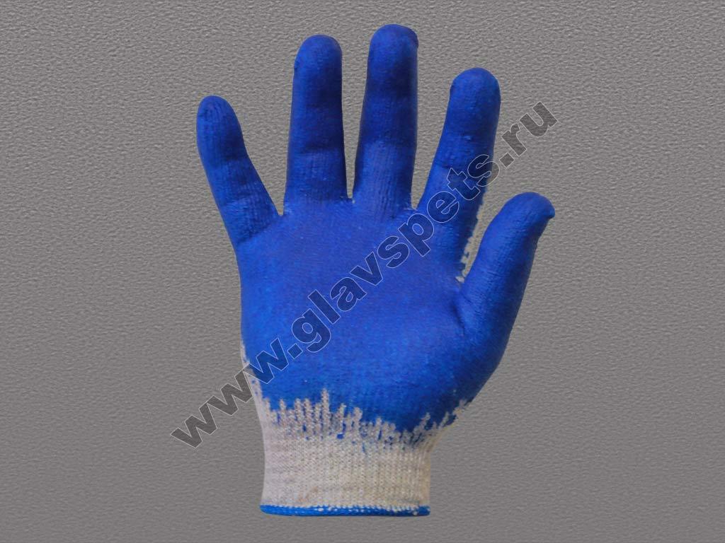 Перчатки ХБ с одинарным латексным покрытием Высший Сорт