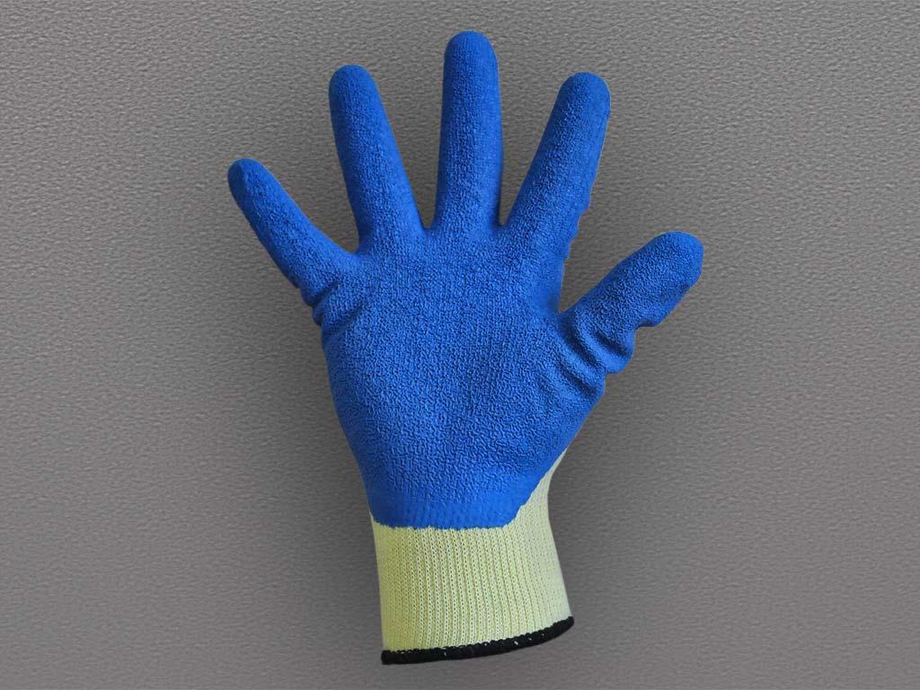 Перчатки ХБ с рифленым латексным покрытием