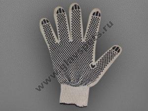Перчатки ХБ с ПВХ высший сорт