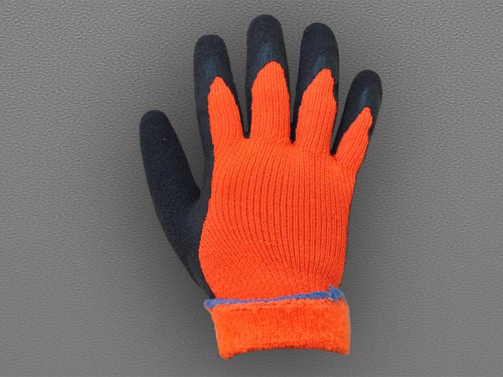 Перчатки акриловые с латексным покрытием (утепленные)