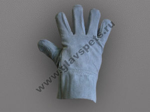 Перчатки спилковые (цельные)