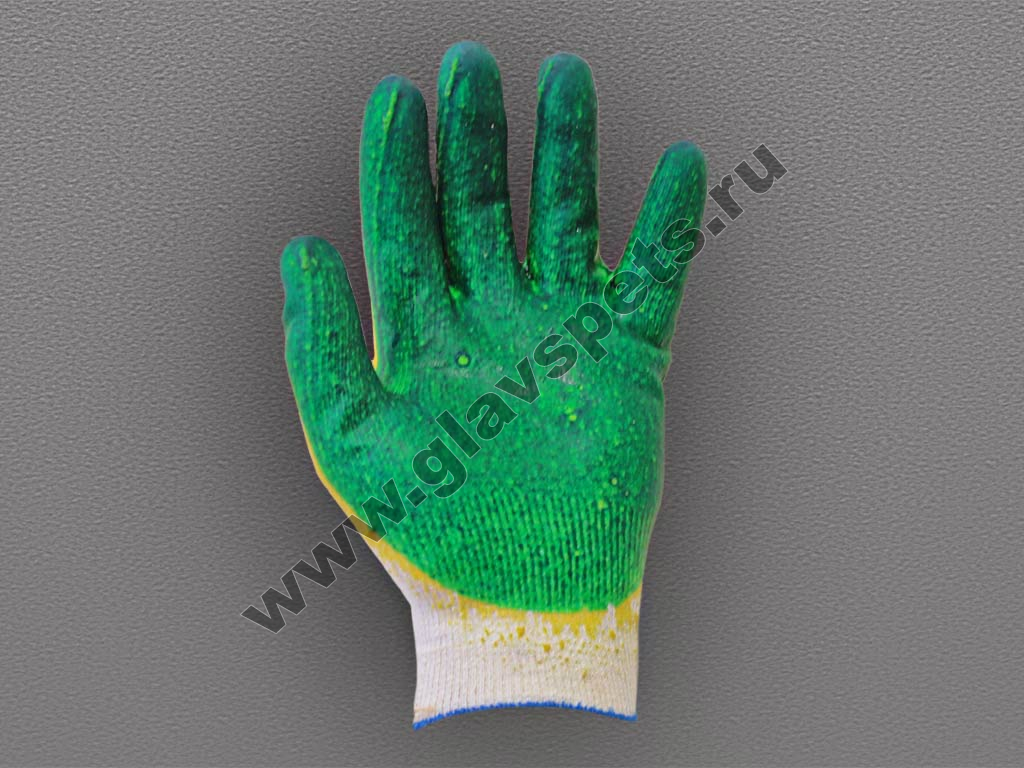 Перчатки ХБ с двойным латексным покрытием