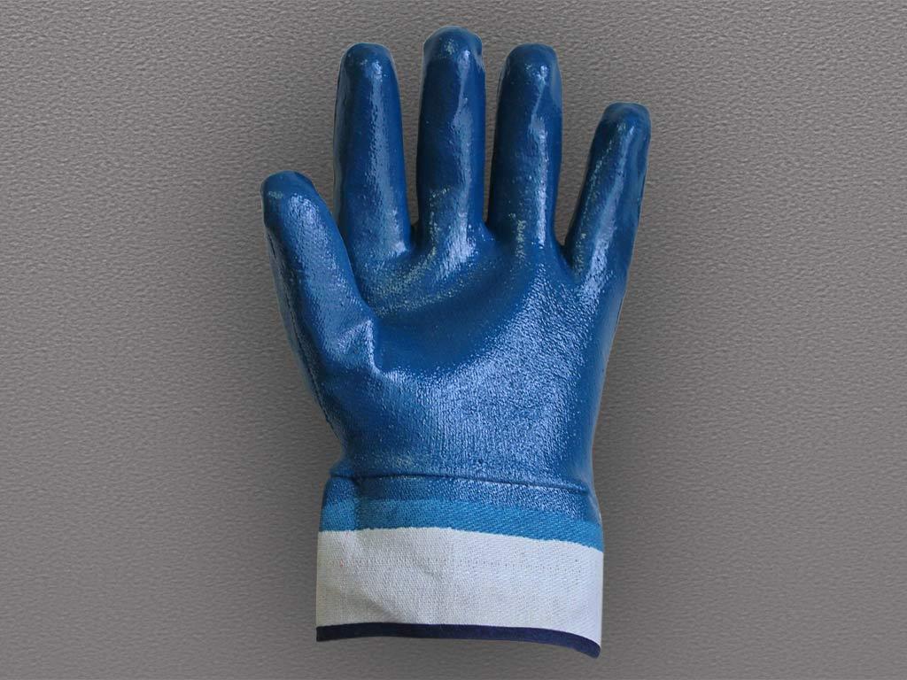 Перчатки с полным нитриловым покрытием (крага)