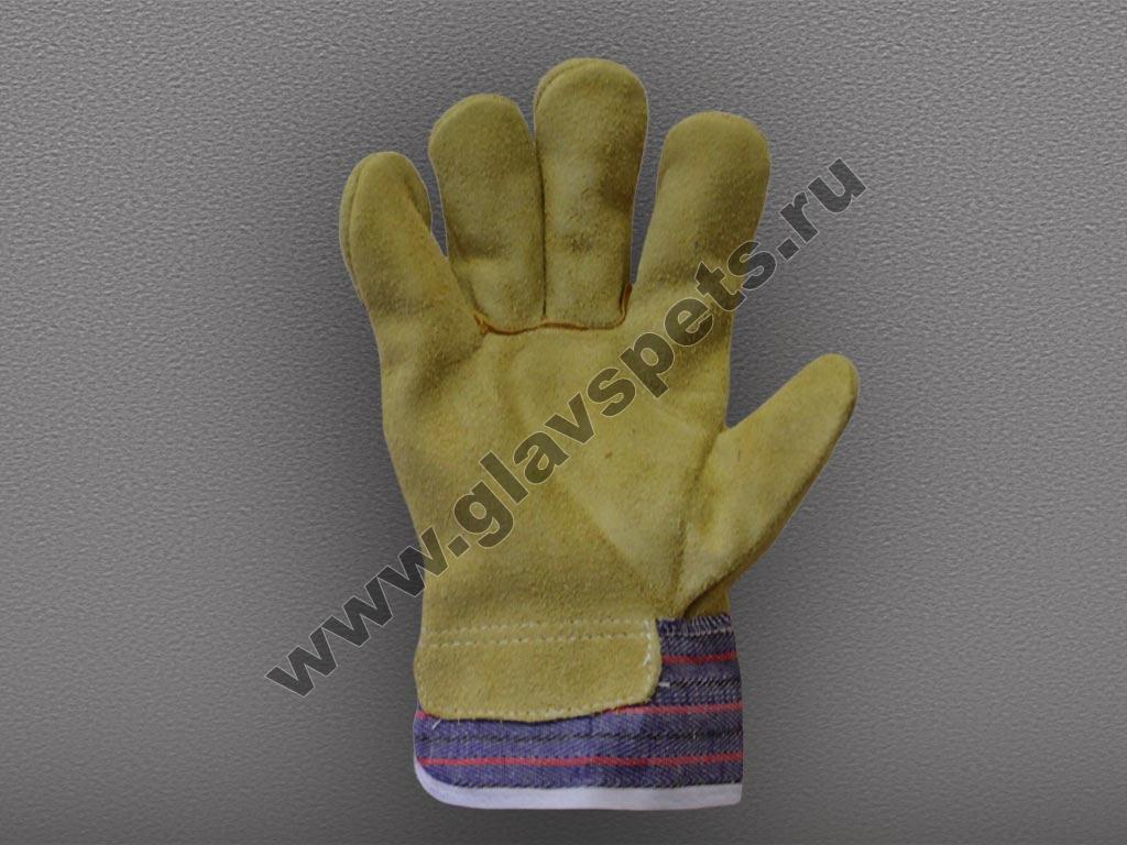 Перчатки (КРС спилок) комбинированные (Ангара)