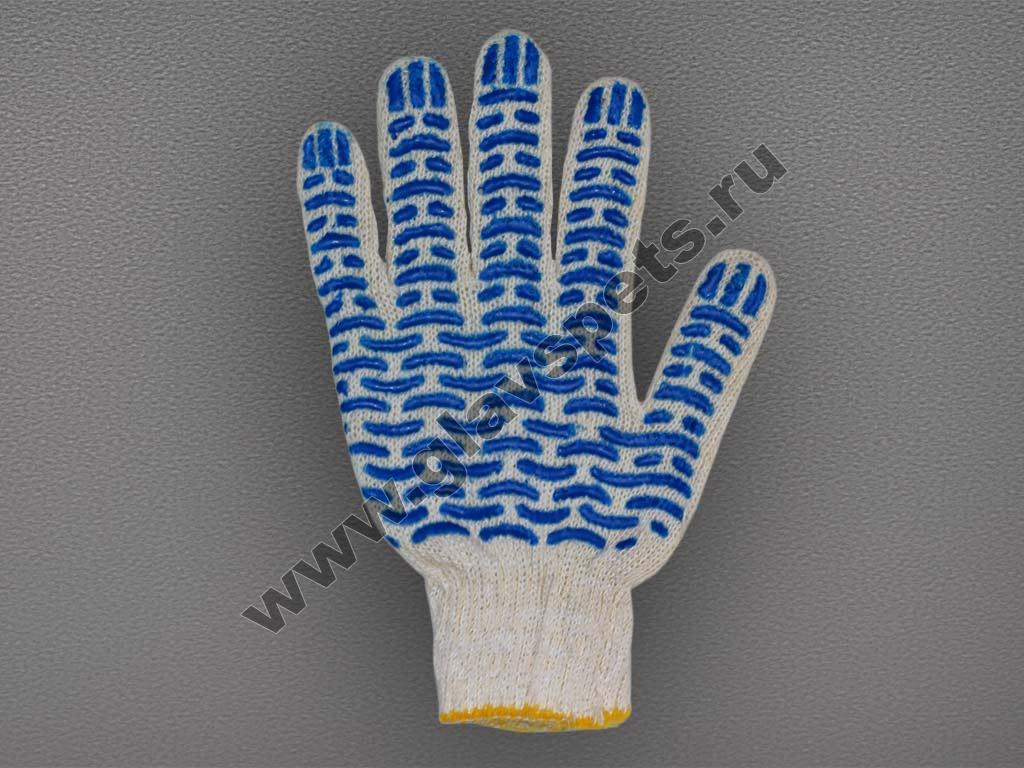 Перчатки ХБ с ПВХ - 45 гр.(10кл)