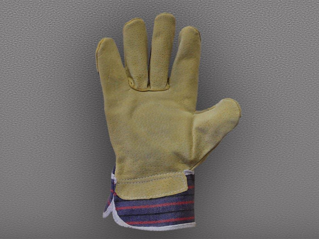 Перчатки свиной спилок комбинированные Ангара