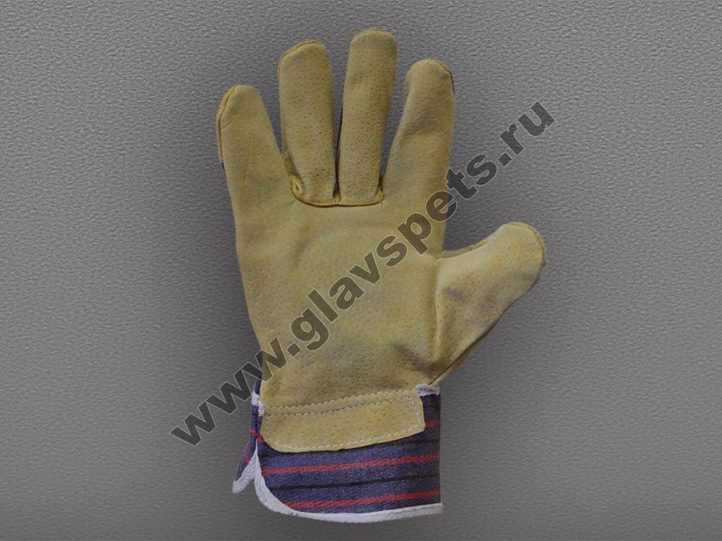 Перчатки (свиной спилок) комбинированные (Ангара)