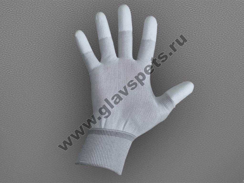 Перчатки нейлоновые антистатические с полиуретановым покрытием пальцев