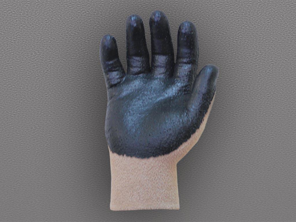 Перчатки нейлоновые с рифленым каучуковым покрытием (ПЛЮШ)