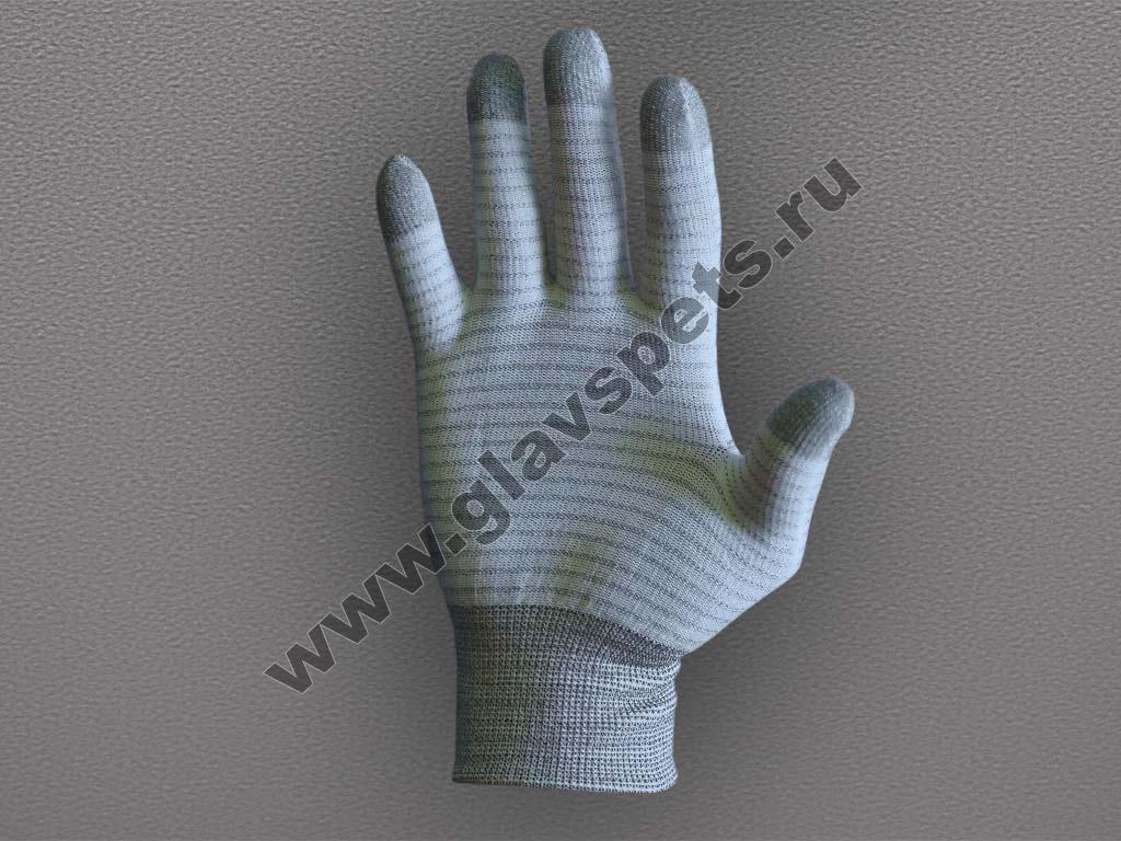 Перчатки нейлоновые с карбоновой нитью