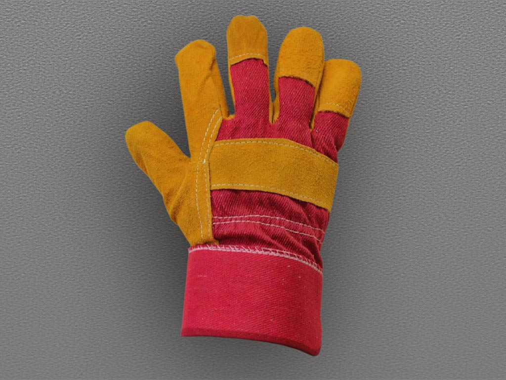 Перчатки спилковые комбинированные Русские Львы