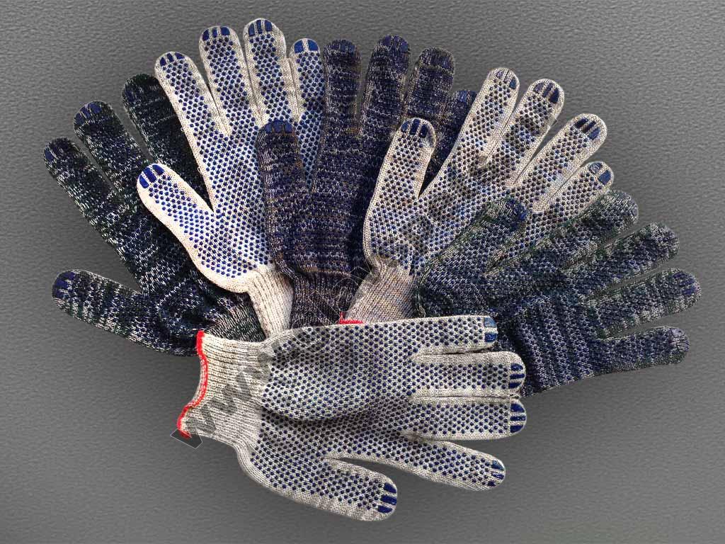 Перчатки Хб с ПВХ «NICE-ТОЧКА»