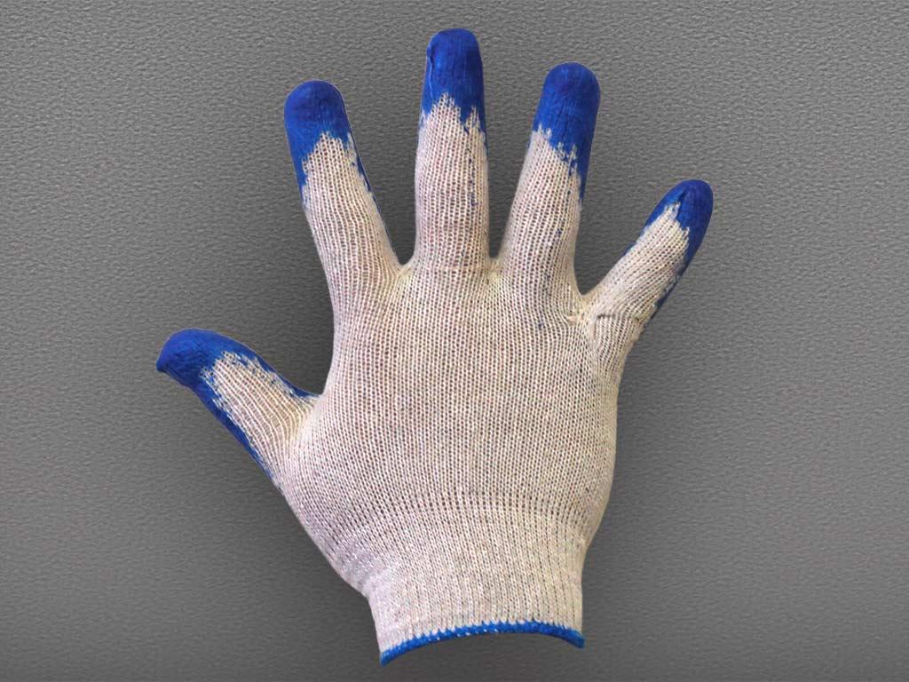 Перчатки ХБ с одинарным латексным покрытием Первый Сорт