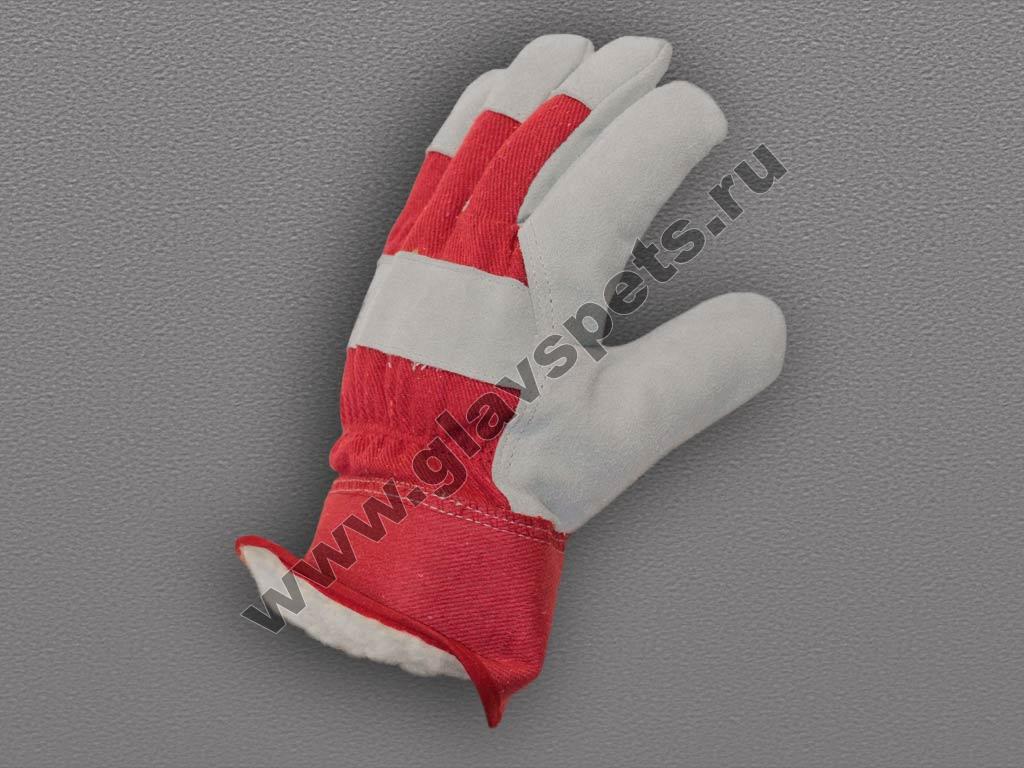 Перчатки спилковые комбинированные «Ангара» - люкс