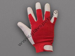 Монтажная перчатка из свиной кожи / ткань с регулируемым манжетом
