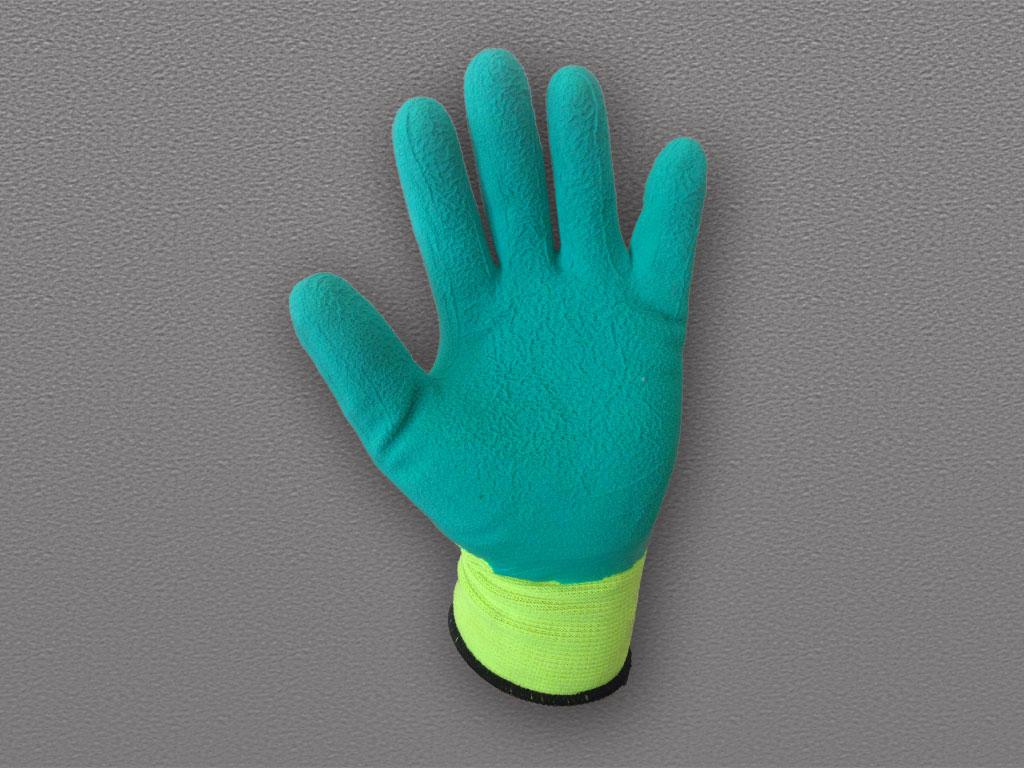 Перчатки нейлоновые с рифленым латексным покрытием