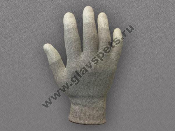 Перчатки карбоновые с полиуретановым покрытием кончиков пальцев
