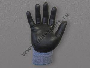 Перчатки спандекс с каучуковым покрытием ладони.