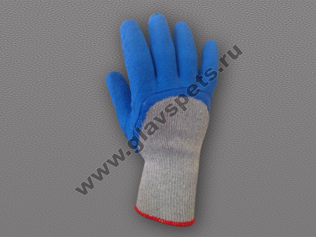 Перчатки п/ш с ¾ рифленым латексным покрытием