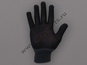 Перчатки нейлоновые антистатические чёрные