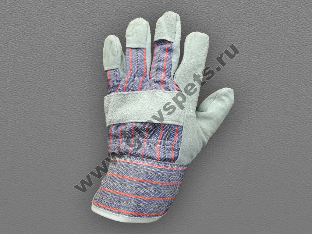 Перчатки спилковые комбинированные (ТРАЛ)