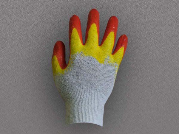 Перчатки ХБ с двойным латексным покрытием люкс