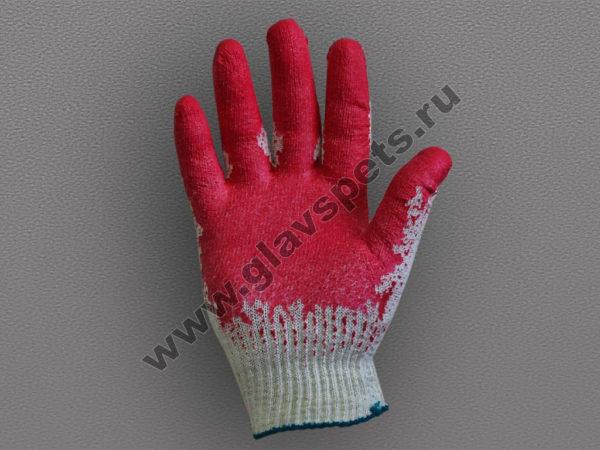Перчатки ХБ с одинарным латексным покрытием оптомв Москве по ценам производителя, купить перчатки хозяйственные оптом, удобные условия доставки заказа