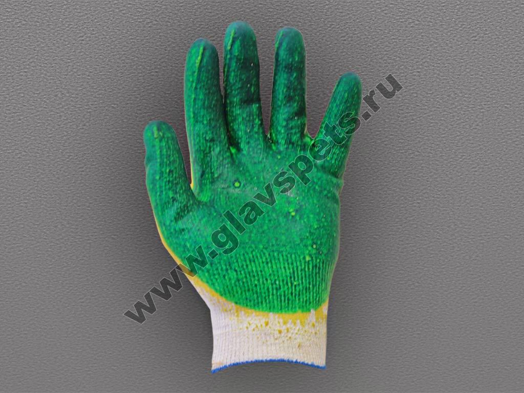 Перчатки ХБ с двойным латексным покрытием по ценам производителя оптомв Москве, купить перчатки резиновые оптом, подробное описание, отзывы клиентов, акции