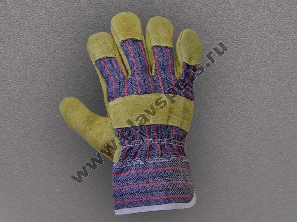 Спилковые перчатки Компании Главспец поставщика- производителя рабочих перчаток и рукавиц по ценам производителя оптомв Москве с доставкой по всей России