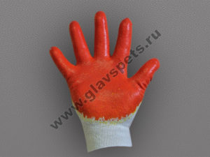 Перчатки хб с двойным латексным покрытием Люкс, ООО Компания Главспец поставщик- производитель рабочих перчаток и рукавиц, купить перчатки гранат недорого