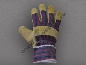 оптомв Москве купить по ценам производителя высокачественные перчатки свиной спилок комбинированные Ангара купить перчатки рабочие оптом с доставкой Москва