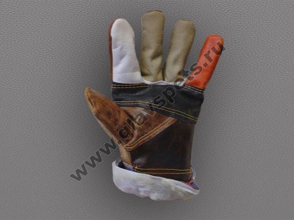 Перчатки кожаные комбинированные утепленные Радуга, купить перчатки утепленные рабочие высокого качества и выгодной цене от производителя Компании Главспец