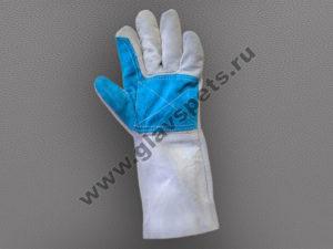 Краги спилковые комбинированные усиленная ладонь Докер поставщик-производитель рабочих перчаток и рукавиц по ценам производителя оптом с доставкой по России