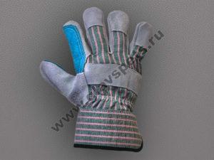 Перчатки спилковые комбинированные усиленная ладонь Докер подробным описанием, отзывами клиентов, с удобной доставкой, перчатки кожаные комбинированные