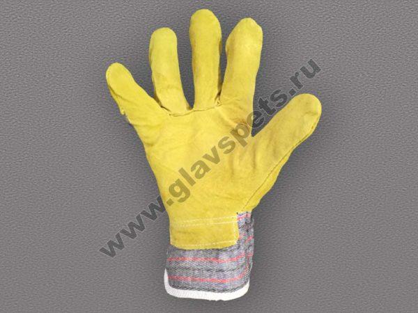 Перчатки КРС спилок комбинированные Ангара, купить рукавицы и перчатки по ценам производителя, доставка заказа по России услугами транспортных компаний