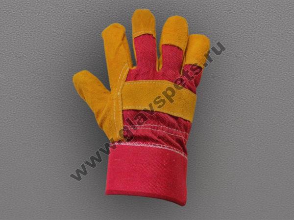 купить оптом перчатки спилковые комбинированные Русские Львы с гибкой системой разовых и накопительных скидок, купитькачественные перчатки для работы