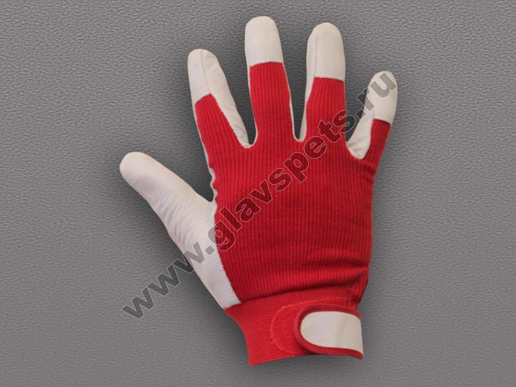монтажная перчатка из свиной кожи – ткань с регулируемым манжетом