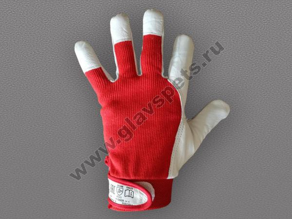 Монтажные перчатки из свиной кожи и ткань с регулируемым манжетом