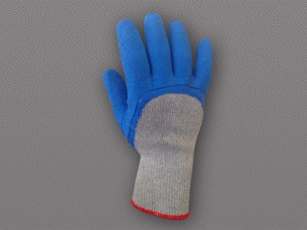 Перчатки п/ш с рифленым латексным покрытием