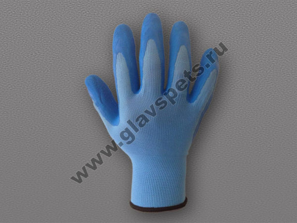 Перчатки нейлоновые с рифленым латексным покрытием по ценам производителя оптом с доставкой по Москве и России, купить надежные перчатки нитриловые оптом