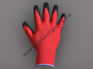 Перчатки нейлоновые с вспененым латексным покрытием красные, от поставщика- производителя рабочих перчаток и рукавиц в Москве, купить перчатки резиновые