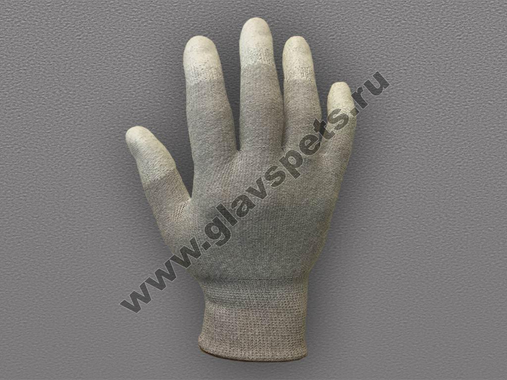 Перчатки карбоновые с полиуретановым покрытием кончиков пальцев оптом, купитьперчатки хб рабочие Компания Главспец поставщик-производитель рабочих перчаток