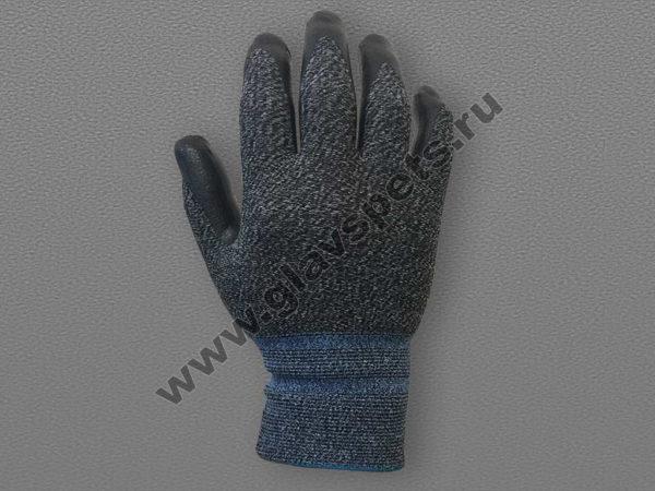 Перчатки спандекс с каучуковым покрытием ладони