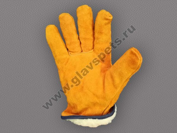 от компании производителя купить перчатки спилковые утеплённые Драйвер по выгодной недорогой цене с доставкой по России, купить рукавицы для работы по акции