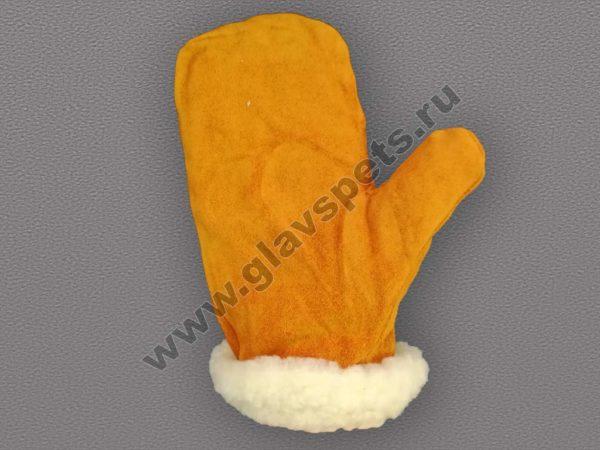 Спилковые варежки утеплённые от поставщика- производителя рабочих перчаток и рукавиц по ценам производителя оптомв Москве, купить зимние рабочие варежки