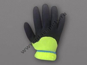 Перчатки акриловые утепленные из высококачественной акриловой нити, ладонь и пальцы покрыты нитрилом с пористой структурой, купить акриловые перчатки Москва