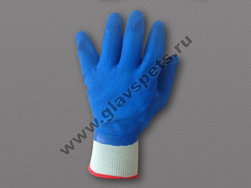 Перчатки п/э с рифленым латексным покрытием от производителя рабочих перчаток и рукавиц по выгодным ценам оптомв Москве, купитьперчатки трикотажные лучшие