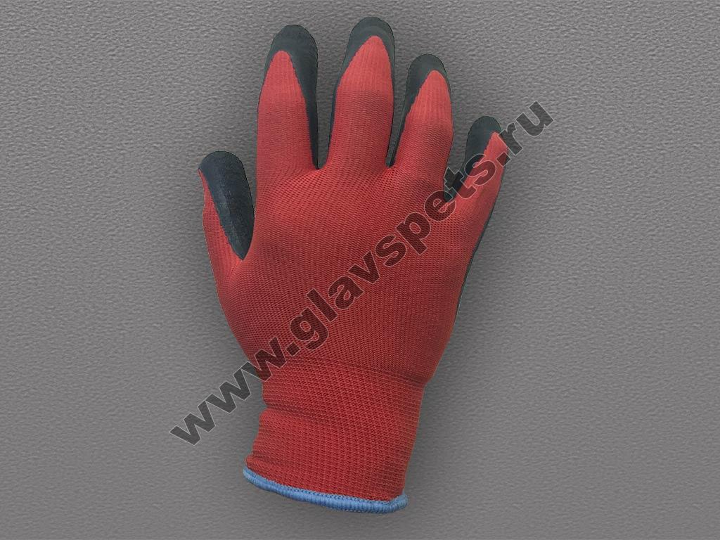 Перчатки акриловые с латексным покрытием утепленные, выгодное предложение цены и качества, Компания Главспец, купитьперчатки с пвх покрытием оптом в Москве