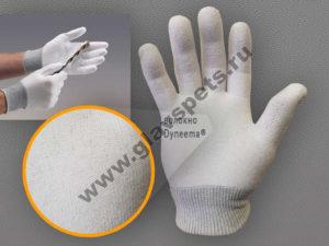 Перчатки с защитой от порезов из волокон Дайнима, купить нейлоновые, спилковые, резиновые, обливные,полиуретановые перчатки от производителя Главспец оптом
